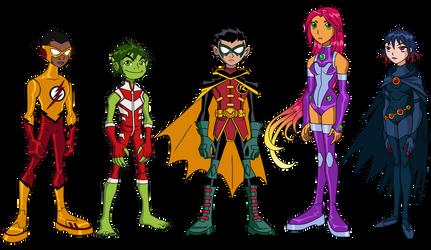 Teen Titans: Rebirth by Glee-chan