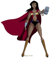 That Time Wonder Woman Became Thor by Glee-chan