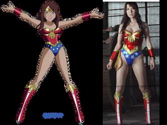 Wonder Lady - Yui Hatano Comparison by Glee-chan