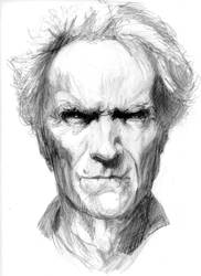 Clint Eastwood Sketch by Harveyartifex