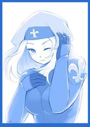 Blue Hospitaller by Lutherniel