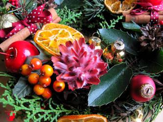 Christmas wreath 2  by BlackCatArtDA