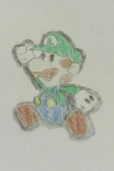 Paper Luigi Time! by Nintendofan364