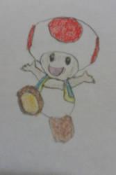 Happy lil' Mushroom by Nintendofan364