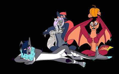 Halloween with the friends by Koolpanda15