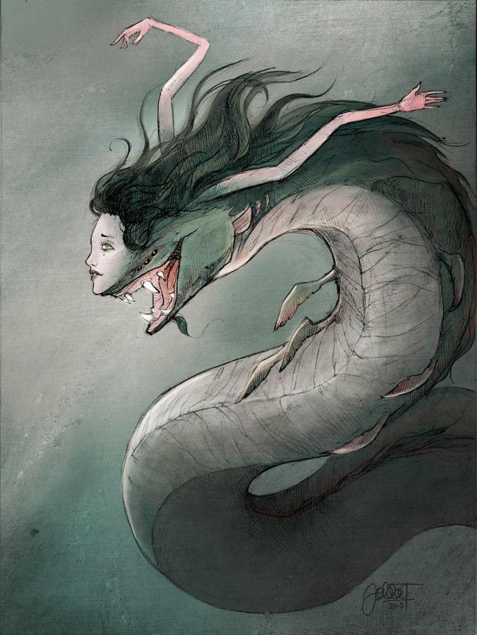 Beautiful mermaid by Hoodd