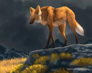 Maned Wolf by Vawie-Art