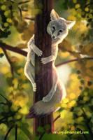 Tree Fox by Vawie-Art