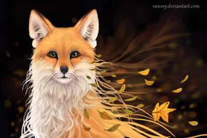Autumn Fox by Vawie-Art