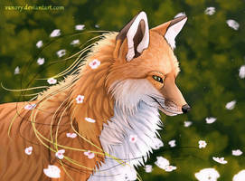 Spring Fox by Vawie-Art