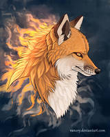 Fire Fox by Vawie-Art