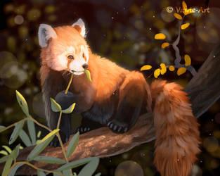 Red Panda by Vawie-Art