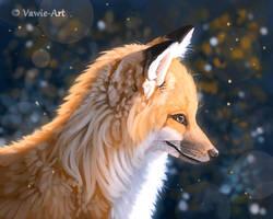Orange and Blue by Vawie-Art