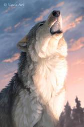 Howling Wolf by Vawie-Art