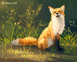 Happy Fox by Vawie-Art