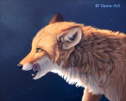 Hungry Fox by Vawie-Art