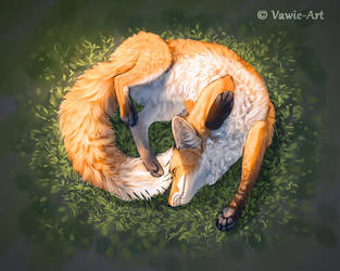 Fox Yoga by Vawie-Art