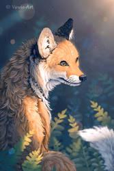 Fox Practice by Vawie-Art