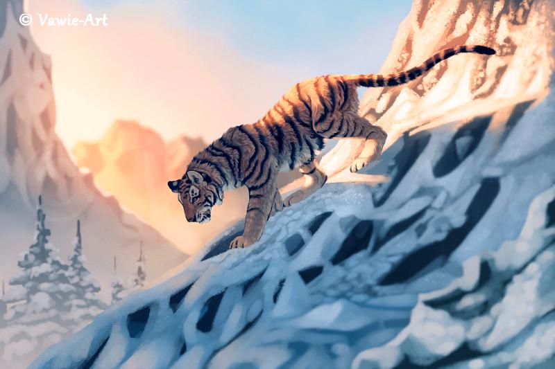 Descent by Vawie-Art