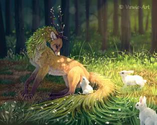 Keeper of the Forest by Vawie-Art