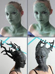 Sylvari Cosplay Progress - Make-up and Prosthetics by xPandorae