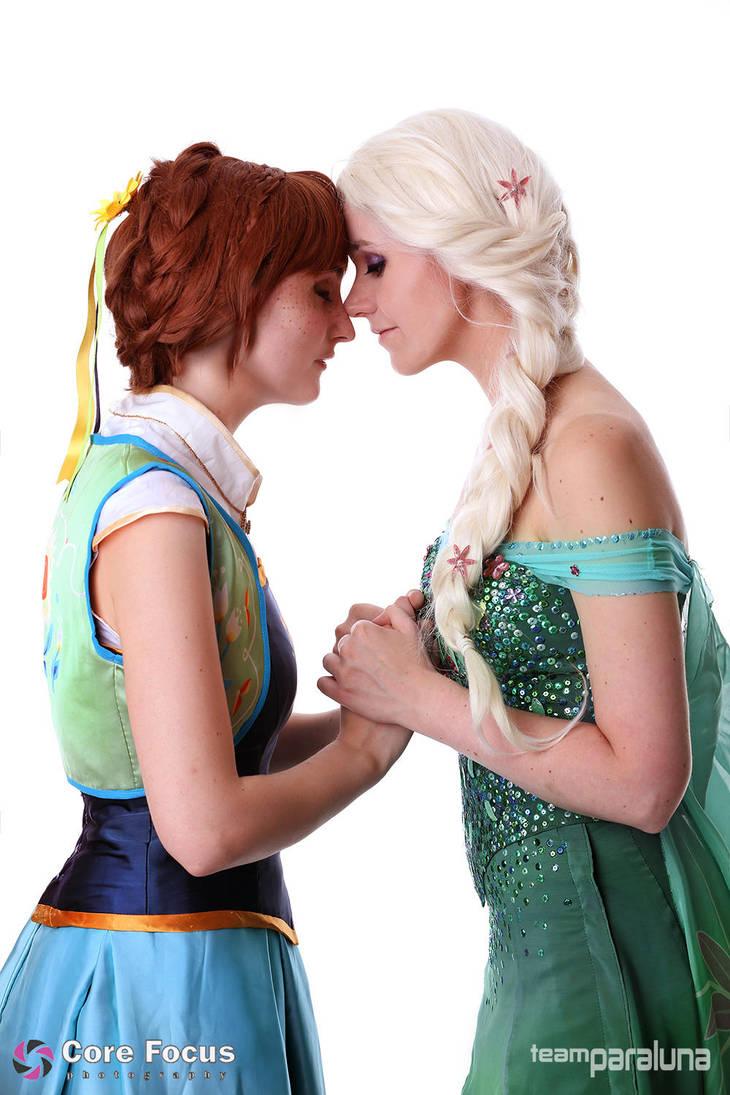 Elsa and Anna - Frozen Fever by xPandorae