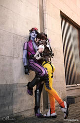 Widowmaker and Tracer - Overwatch by xPandorae
