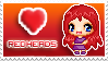 heart redheads stamp by izka197