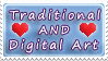 Tradi AND Digi Art Love stamp by izka197