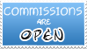 Commissions Open Stamp by izka197
