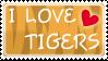 I love tigers stamp by izka197