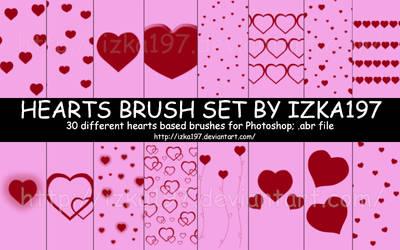 Hearts Brush Set by izka197