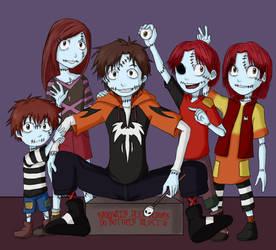 The Skellington Siblings by demonoflight