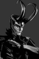 Speedpainting: Loki by apfelgriebs