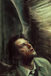 Castiel - Everything beautiful bleeds by apfelgriebs