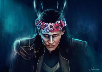 Chance May Crown Me - Loki by apfelgriebs