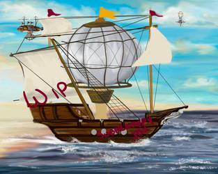 Airship WIP by SugarHappy