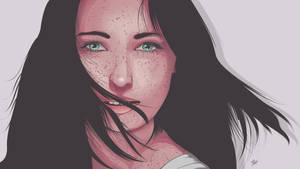 Freckle Girl by AlaaEbrahim387