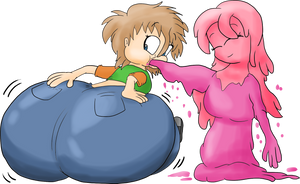 TRADE - Slime bloating Alex by JuacoProductionsArts