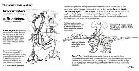 Cybertronic Bestiary Page 23 by ZacWilliam