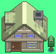 Custom Pokemon style house sprite sheet by RedKnightX