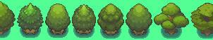 Pokemon tree sprite sheet by RedKnightX