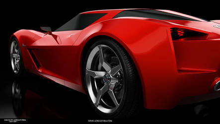 Corvette Stingray - back by adit1001