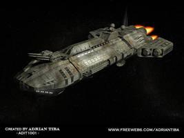 Spaceship again by adit1001