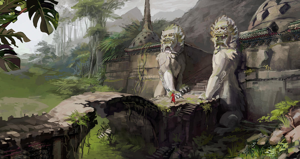 Komainu Watching by AnDary