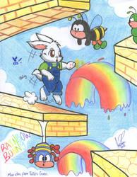 The Rainbow Bunny by ConejoWhite