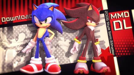 MMD 06Style Sonic/Shadow 1.0.2 DL by 495557939