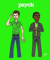 Shawn and Gus Get Animated... by Psych93
