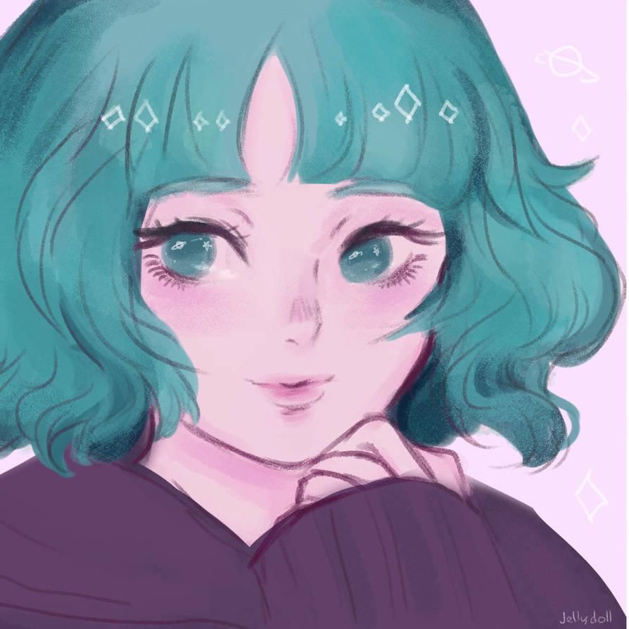 Retro anime girl by JellyDoll