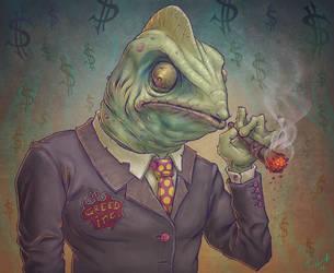 Greedy Lizard-Boss by Cane-force